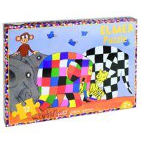 Petit Jour Paris - Puzzle 12 pièces : Elmer et ses amis