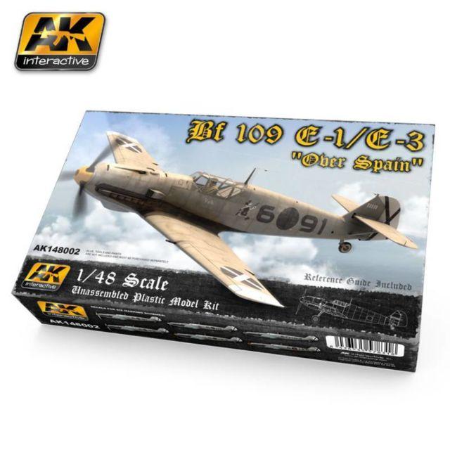 Ak Interactive Maquette Avion Bf 109 E-1/e-3 Over Spain