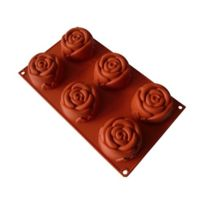 Guery - Moule silicone rose 6 empreintes