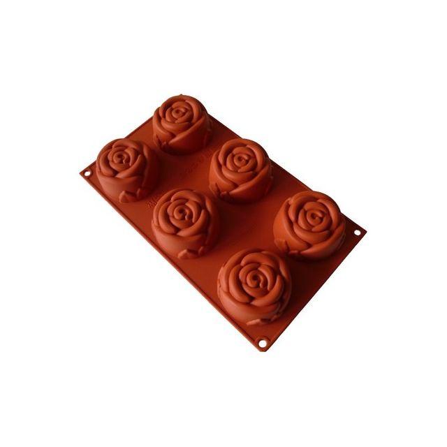Guery Moule silicone rose 6 empreintes