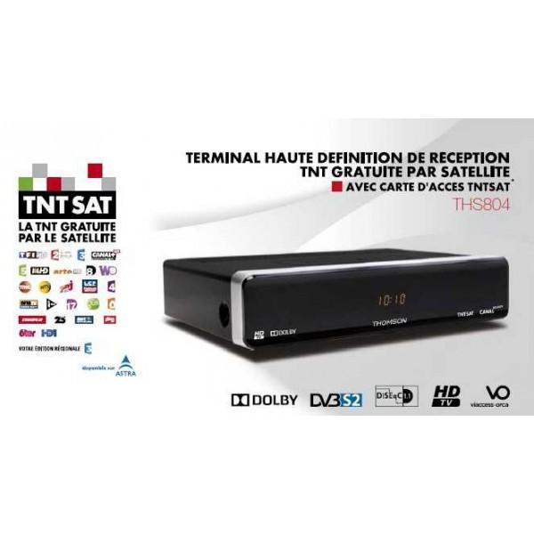 THOMSON Récepteur satellite TNT HD - THS804 - Noir