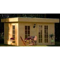 Lekingstore - Maison en Bois à Toit Plat Breda 11.40 m² Epaisseur 28 mm