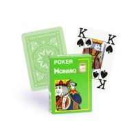 Modiano - Cartes 100% plastique 4 index vert clair