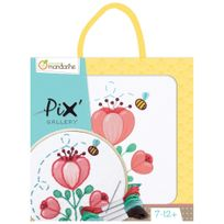 Avenue Mandarine - Kit d'Initiation Broderie Enfant - Tulipe Abeille