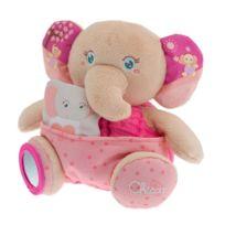 Chicco - Peluche Soft Cuddles : Éléphant rose