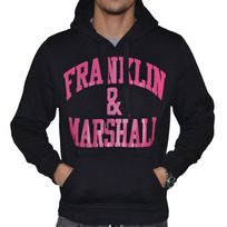 Franklin & Marshall - Franklin Marshall - Sweat à Capuche - Homme - Fm Sweat - Noir Rose