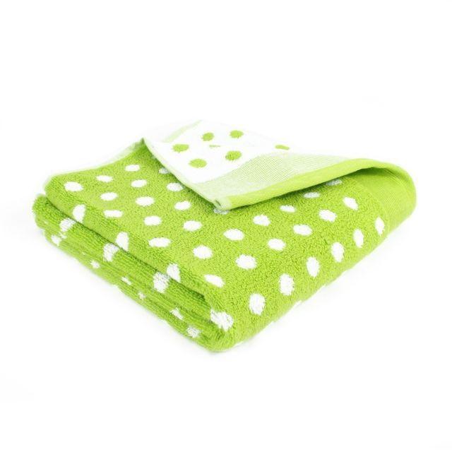 Linnea serviette de toilette 50x100 cm graphic dots pistache 550 gm2