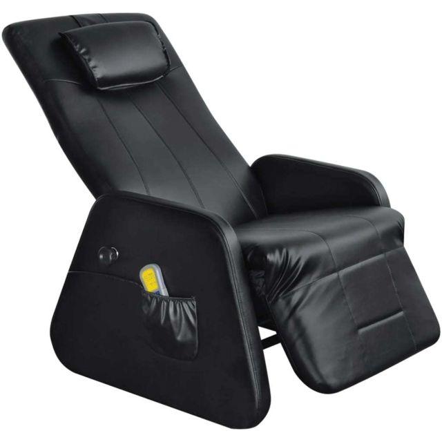 sublime Fauteuils reference Ottawa Fauteuil de massage électrique Cuir synthétique Noir