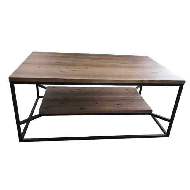 Homense Table Basse De Salon Design Industriel Rectangulaire