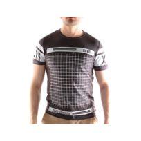 David Gerenzo - Tee shirt Zip Homme T-shirt G-d 116 Gris