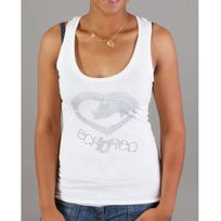 Ecko - Top Red Textured Logo Tank blanc, argenté