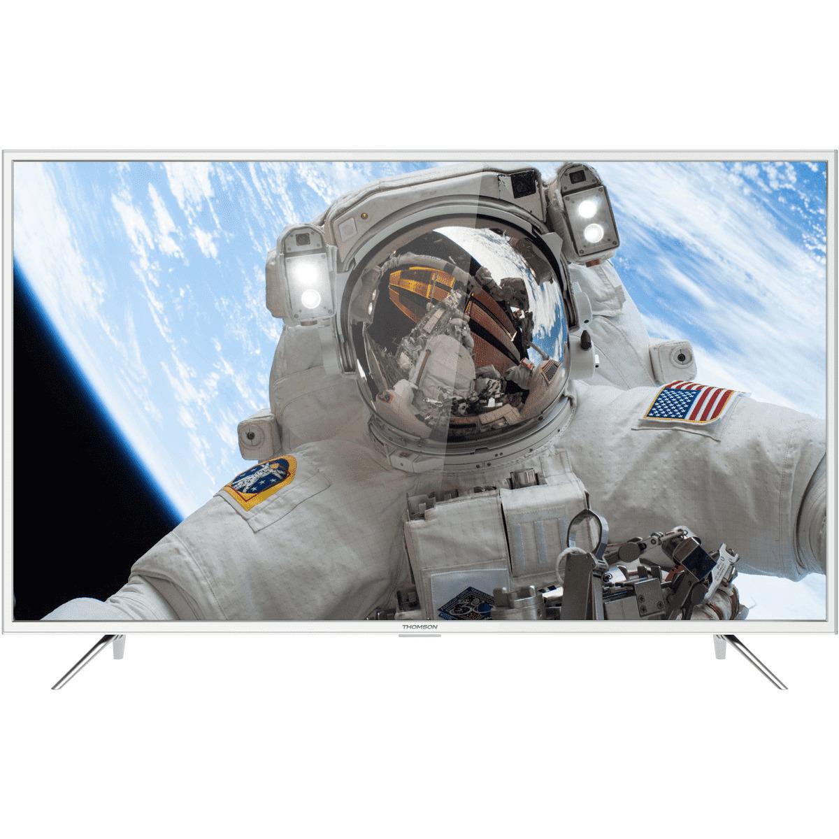 "THOMSON TV LED UHD 4K - 49""  124 cm  - 49UD6206W - Blanc"
