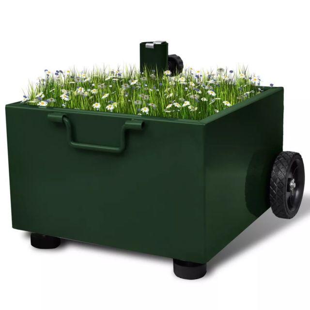 Vidaxl Pied Parasol Pot Fleurs Vert | Vert