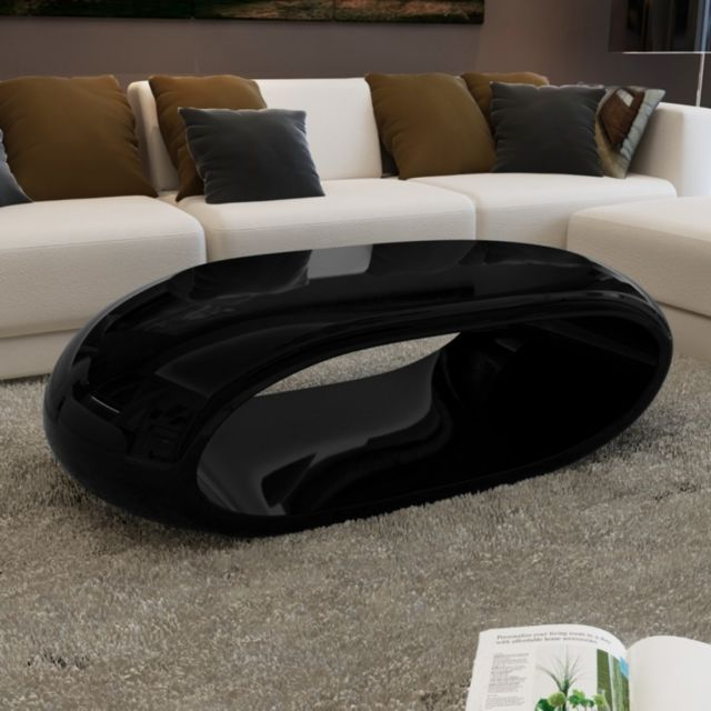 Maja Table Basse Design Noir Pas Cher Achat Vente Consoles