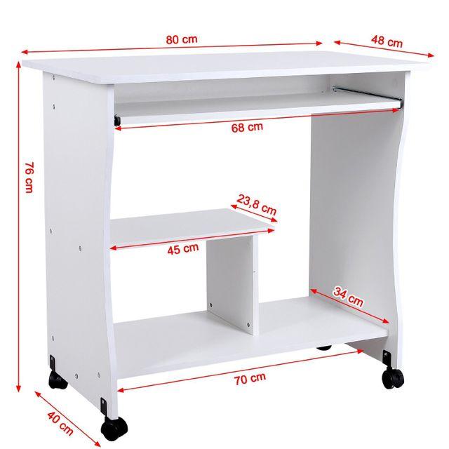 Rocambolesk superbe bureau informatique roulant table for Meuble bureau volet roulant