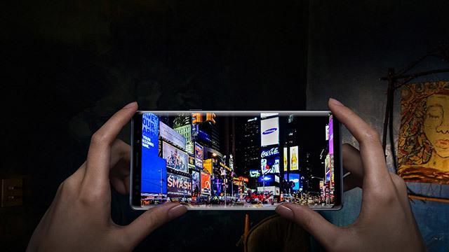 L'écran Infinity du Galaxy Note 9
