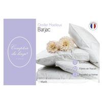 Comptoir du linge - Cdlocnb65 Oreiller Moelleux Lussan Garnissage Polyester/VISCOSE Blanc 65 X 65 X 10 Cm - Cdlocnb65