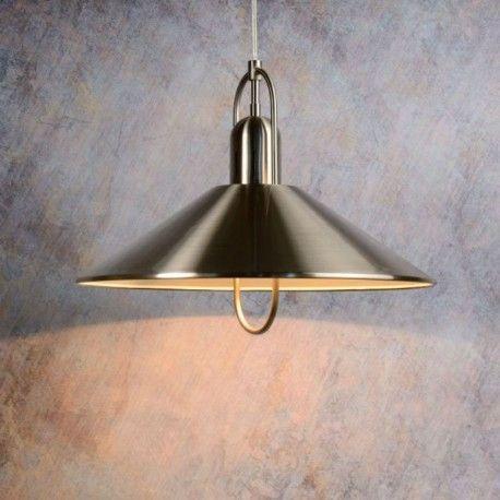 Lucide - Suspension métal design diamètre 40 cm Marco Gris - 40cm x 12cm x 40cm