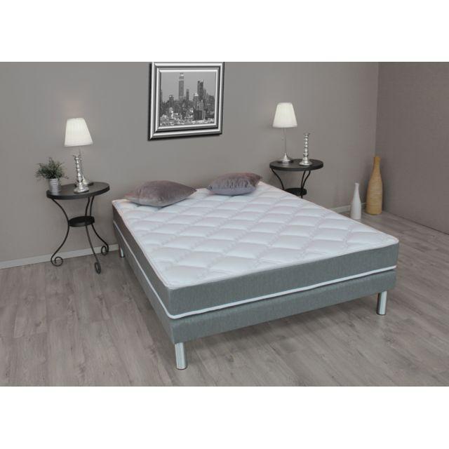 lovea sommier tapissier 140 190 mm deco charlotte pas cher achat vente sommiers. Black Bedroom Furniture Sets. Home Design Ideas