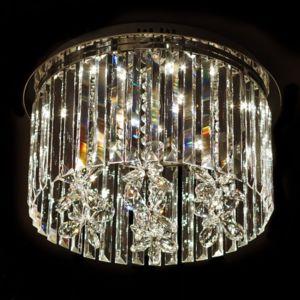 kosilum lustre plafonnier design cristal led 45cm irene 45cm x 30cm x 45cm pas cher achat. Black Bedroom Furniture Sets. Home Design Ideas