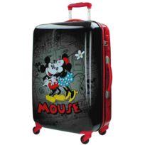 Jou Jye - Grande valise coque rigide Mickey rétro noire