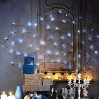 Blachère illumination - Rideau Led à piles 1m50 x 1m50