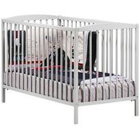 Baby Price - New Nao Lit Bébé a Barreaux 60x120 cm - 3 positions - Gris