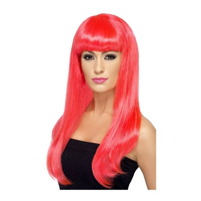 perruque rose pas cher
