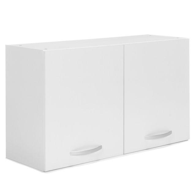 alinéa - eko cuisine meuble de cuisine haut blanc 2 portes 100cm