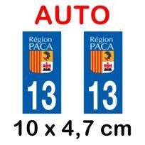 Mygoodprice - Autocollant plaque immatriculation voiture dpt 13 Bouches du Rhône