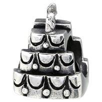 Sochicbijoux - So Chic Bijoux © Charm Gateau Anniversaire Bougie - Charms Compatibles Pandora, Trollbeads, Chamilia, Biagi - Argent 925