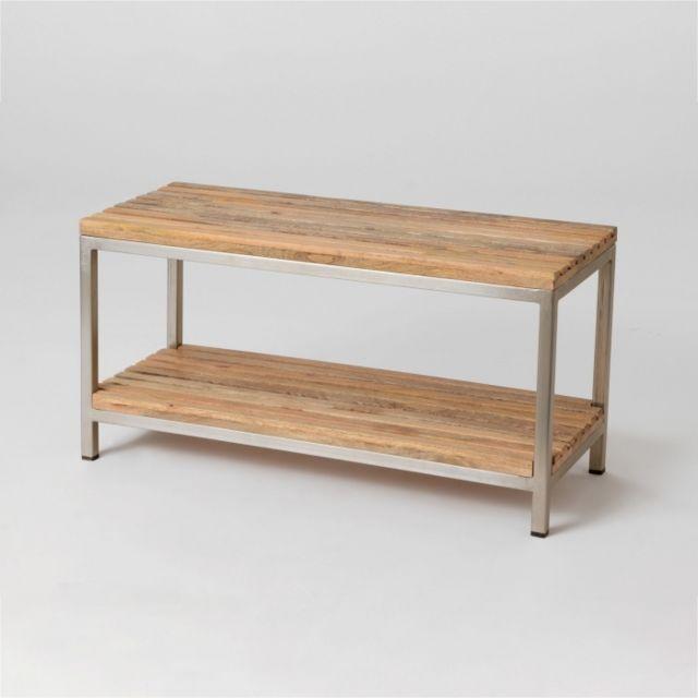 AMADEUS Bout de lit bois et métal