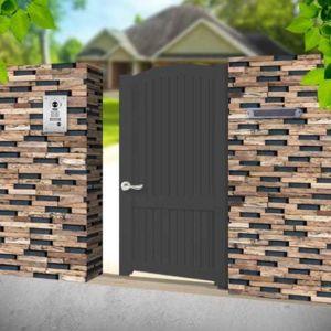 emalu portillon alu poussant universel convexe gris anthracite 1x1 70m adriatique pas cher. Black Bedroom Furniture Sets. Home Design Ideas