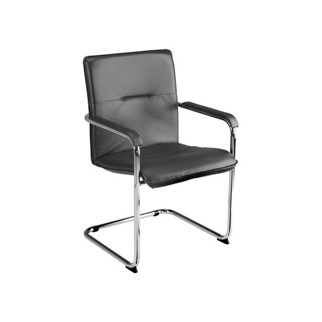 Nowystyl Fauteuil Rumba noir accoudoirs noirs