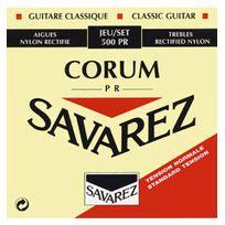 Savarez - 500PR Corum Rouge Tirant Normal - Jeu de cordes guitare classique