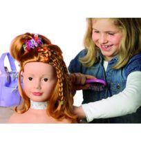 Gotz - Tête à coiffer et à maquiller - Cheveux roux