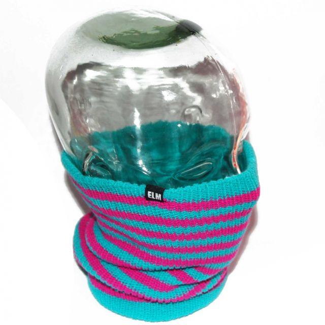 Elm - Cache cou, cache nez, Striped reversible violet et turqu