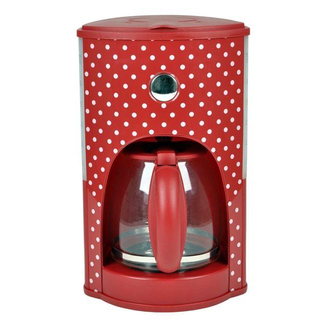 KALORIK Machine à café English retro Rouge/Points blancs - TKG CM 1008 RWD