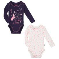 Petit Beguin - Lot de 2 bodies manches longues bébé fille Lili - Taille - 36 582e63de834