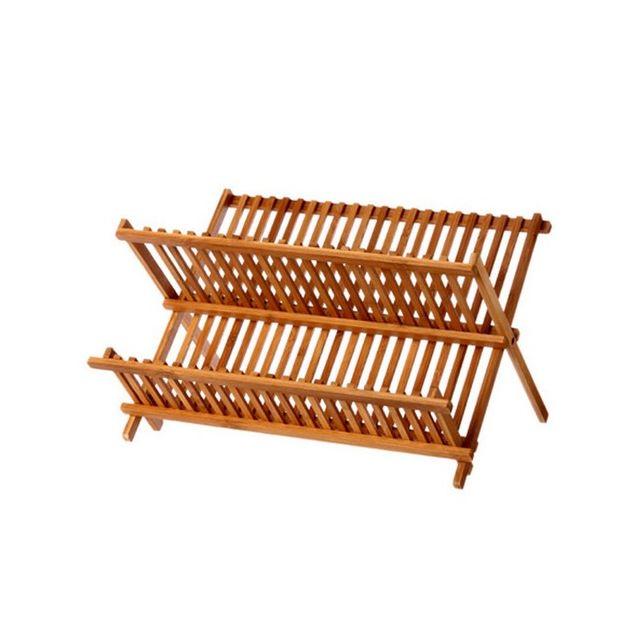 maison futee gouttoir vaisselle bambou pliable 34 assiettes pas cher achat vente. Black Bedroom Furniture Sets. Home Design Ideas