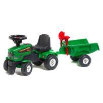 Falquet - Porteur tracteur Farm Mustang 350S + Remorque + pelle et râteau : Vert