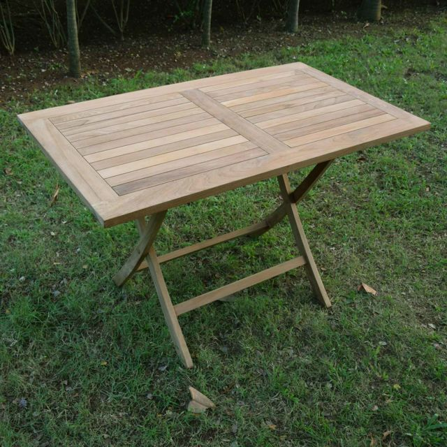 Table basse en teck pliable - Made in Meubles