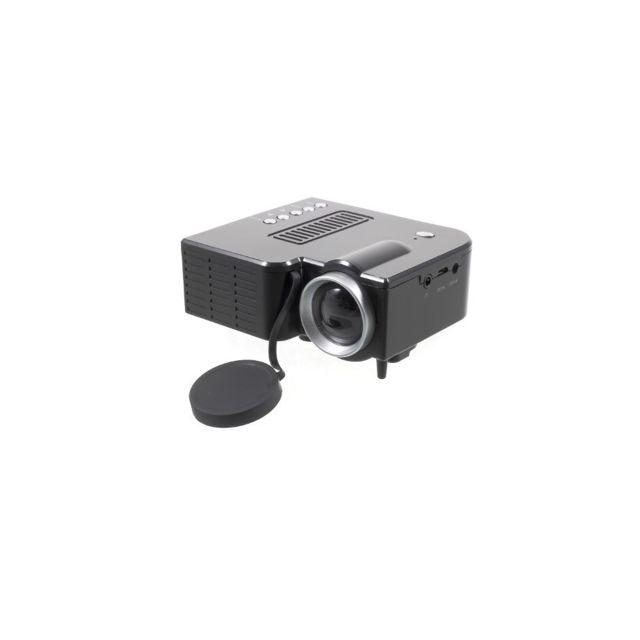 Auto-hightech Projecteur multimédia Mini Home Cinema Led avec ports Usb Tf - Noir / Prise Ue