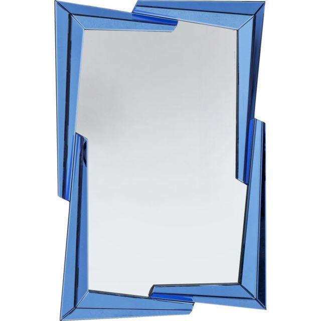Karedesign Miroir Boomerang bleu 122x82cm Kare Design