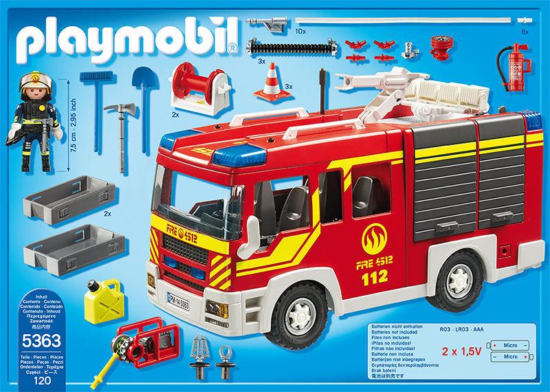 Fourgon de pompier avec sirène et gyrophare - 5363
