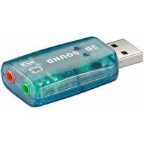 Cabling - Carte son externe en clé Usb 2.0 2 canaux son 5.1 2 prises Jack 3.5mm pour casque et micro