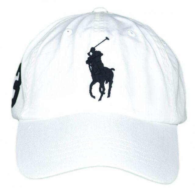6283e39134e2 Ralph Lauren - Casquette blanche Big Poney noir pour homme - pas cher Achat    Vente Casquettes, bonnets, chapeaux - RueDuCommerce