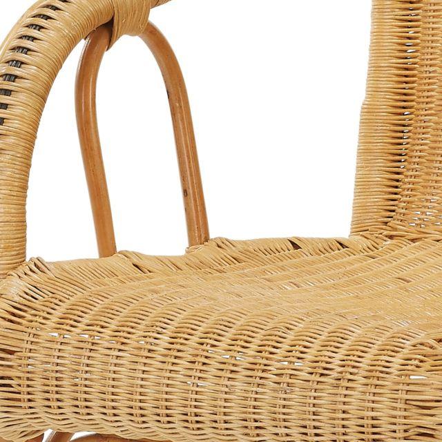 Rotin-design - Soldes: -40% Fauteuil traditionnel en osier tressé Tim - Rotin Design Miel