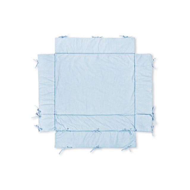 Comforium Matelas pour parc bébé design en coton coloris bleu
