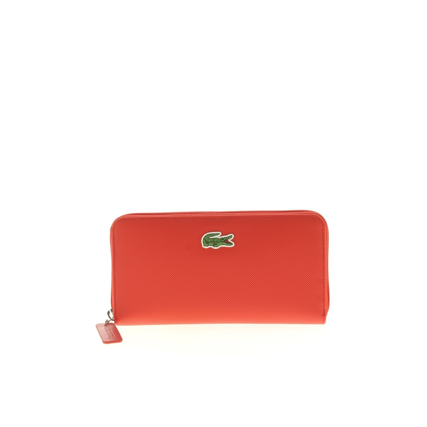 97990cbab8 LACOSTE- Portefeuille L Zip Wallet High Risk Red - Rouge